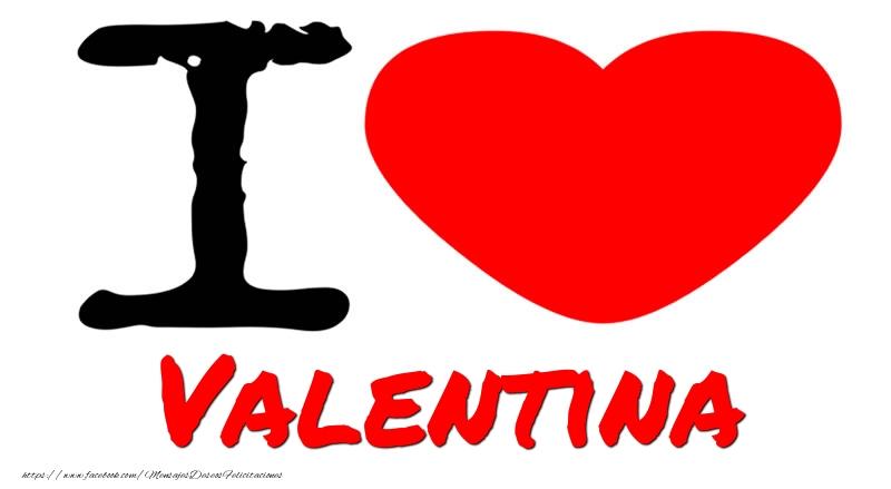 Felicitaciones de amor - I Love Valentina