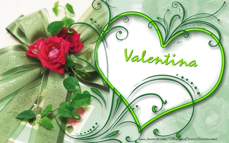 Felicitaciones de amor - Valentina