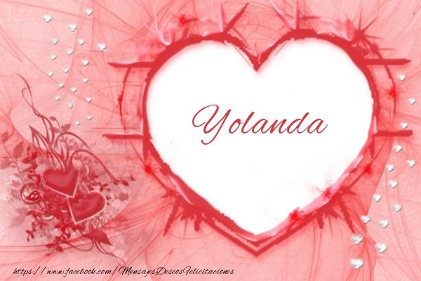 Felicitaciones de amor - Love Yolanda