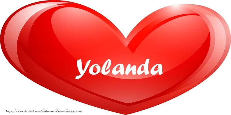 Felicitaciones de amor - Yolanda en corazon!