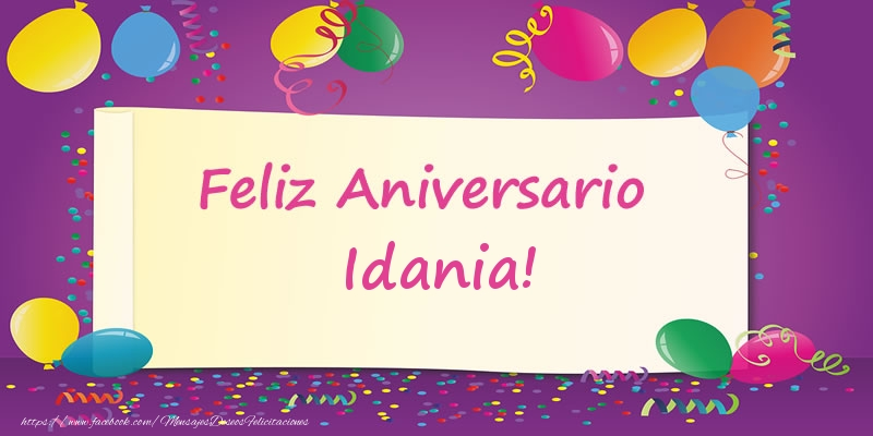Felicitaciones de aniversario - Feliz Aniversario Idania!