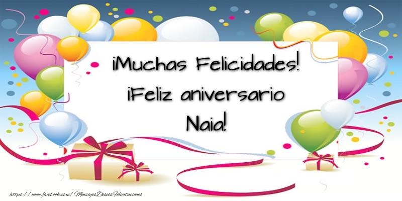Felicitaciones de aniversario - ¡Muchas Felicidades! ¡Feliz aniversario Naia!