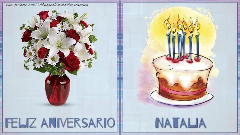 Felicitaciones de aniversario - Feliz aniversario Natalia