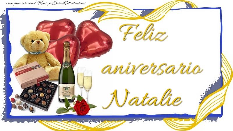 Felicitaciones de aniversario - Feliz aniversario Natalie