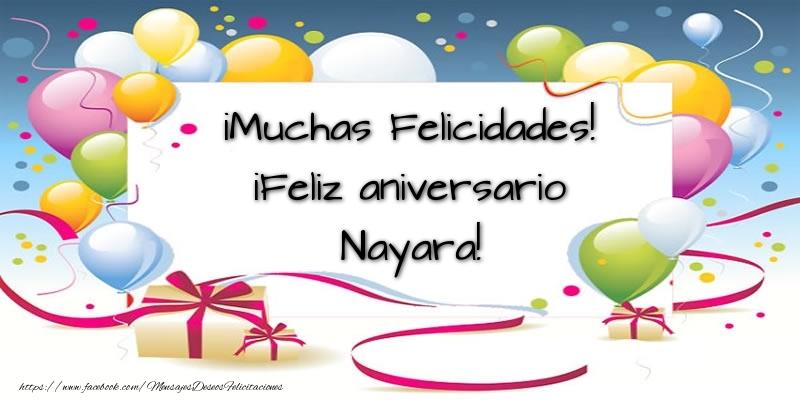 Felicitaciones de aniversario - ¡Muchas Felicidades! ¡Feliz aniversario Nayara!