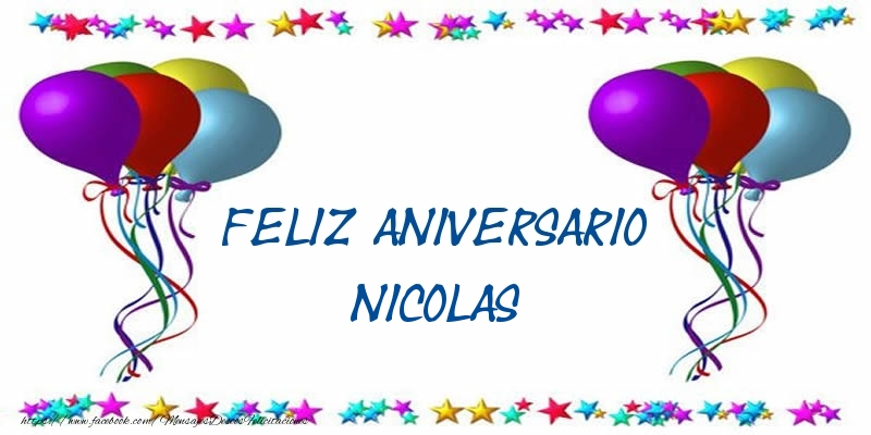 Felicitaciones de aniversario - Feliz aniversario Nicolas