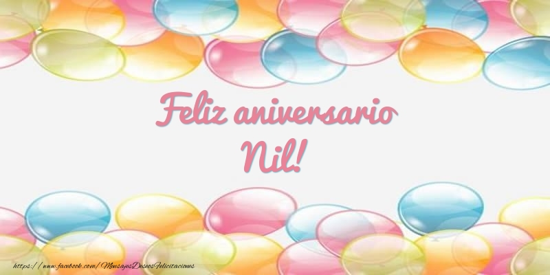 Felicitaciones de aniversario - Feliz aniversario Nil!