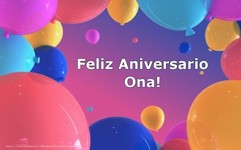 Felicitaciones de aniversario - Feliz Aniversario Ona!