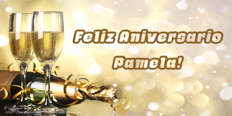 Felicitaciones de aniversario - Feliz Aniversario Pamela!