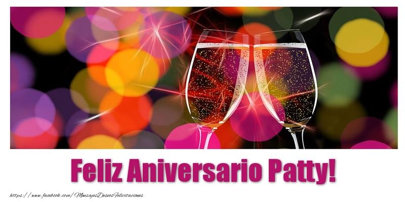 Felicitaciones de aniversario - Feliz Aniversario Patty!