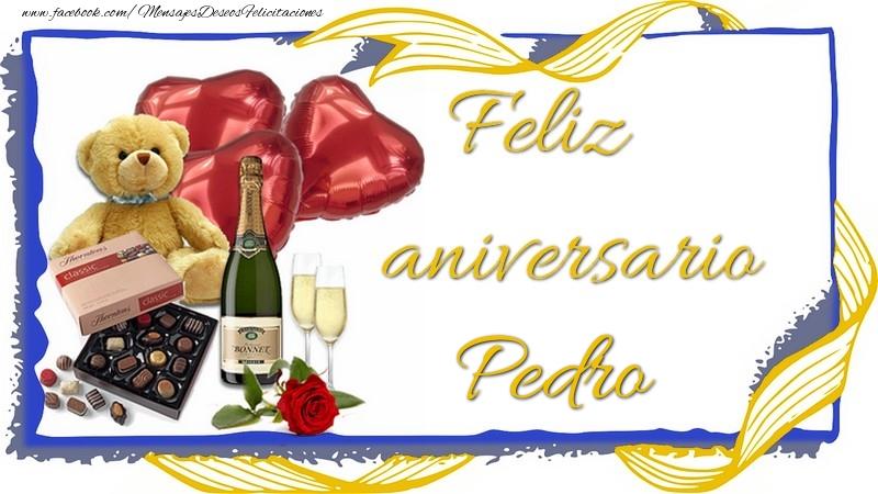 Felicitaciones de aniversario - Feliz aniversario Pedro