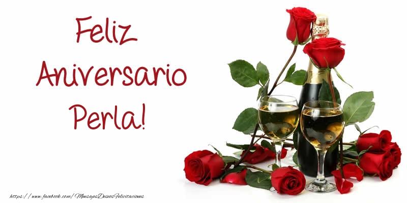 Felicitaciones de aniversario - Feliz Aniversario Perla!