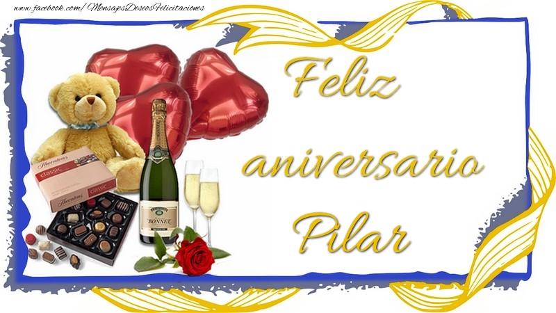 Felicitaciones de aniversario - Feliz aniversario Pilar