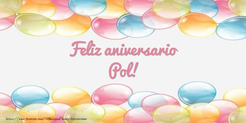 Felicitaciones de aniversario - Feliz aniversario Pol!