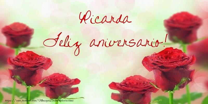 Felicitaciones de aniversario - Ricarda Feliz aniversario!