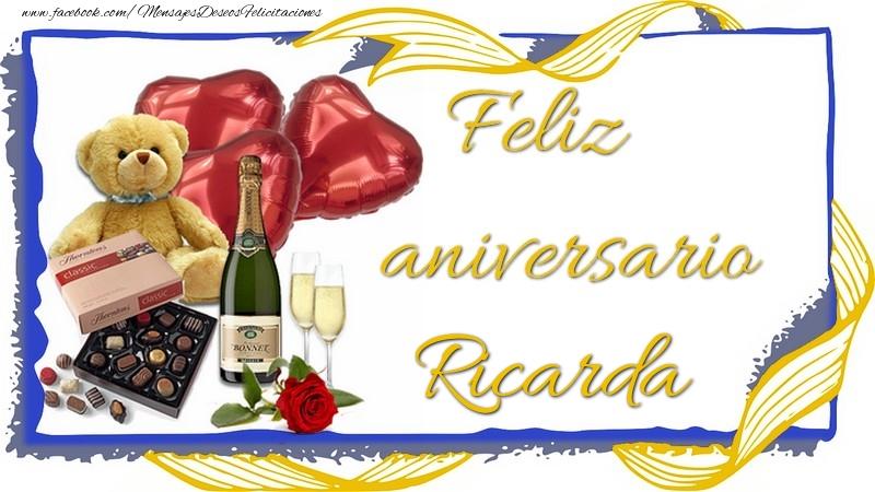Felicitaciones de aniversario - Feliz aniversario Ricarda