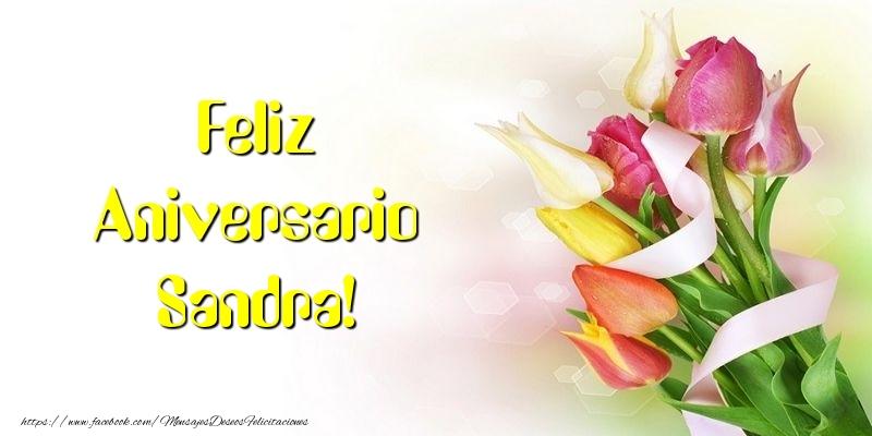 Felicitaciones de aniversario - Feliz Aniversario Sandra!