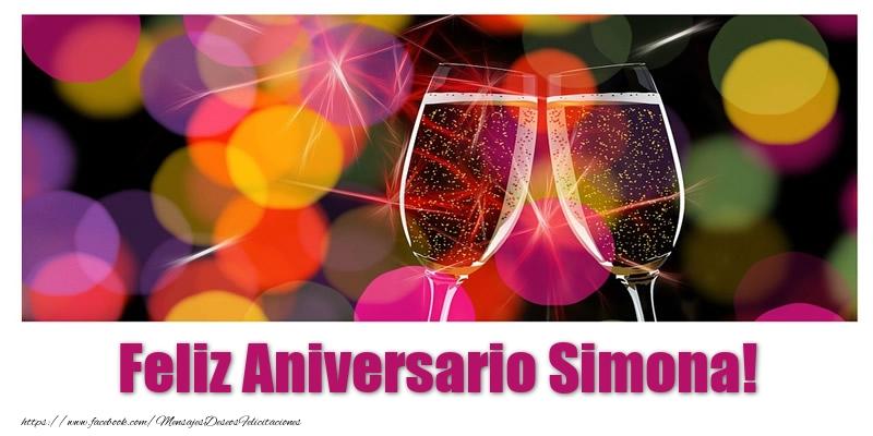 Felicitaciones de aniversario - Feliz Aniversario Simona!