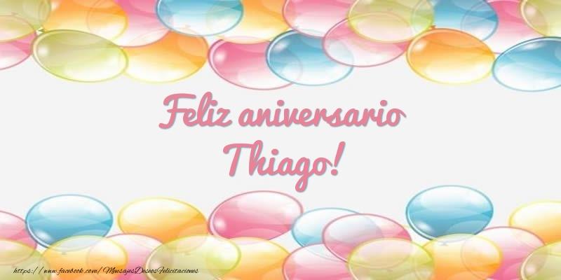 Felicitaciones de aniversario - Feliz aniversario Thiago!