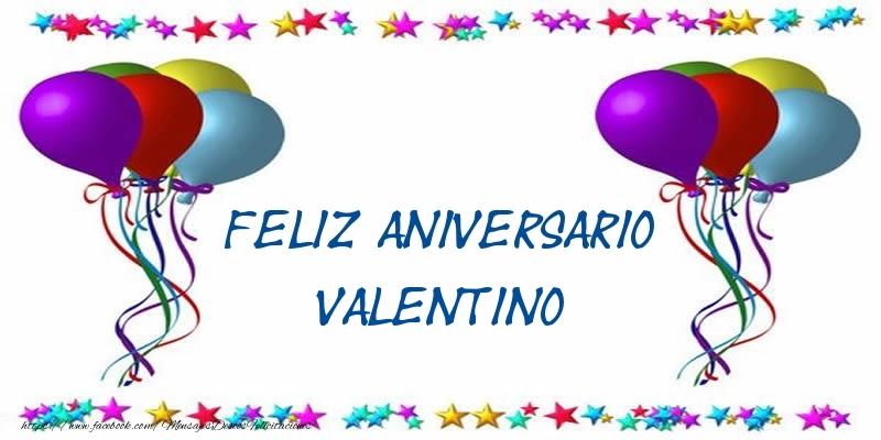 Felicitaciones de aniversario - Feliz aniversario Valentino