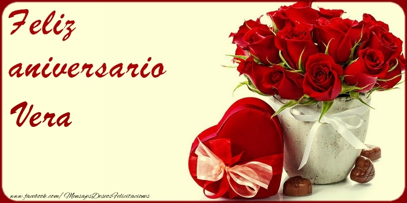 Felicitaciones de aniversario - Feliz Aniversario Vera!