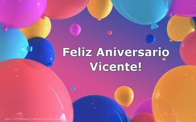 Felicitaciones de aniversario - Feliz Aniversario Vicente!