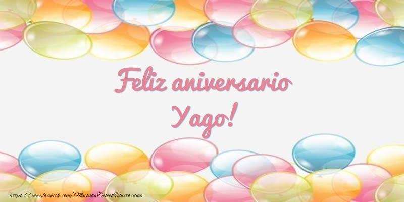Felicitaciones de aniversario - Feliz aniversario Yago!