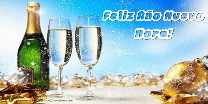 Felicitaciones de Año Nuevo - Feliz Año Nuevo Nora!