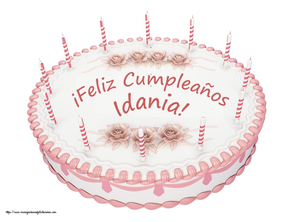 Felicitaciones de cumpleaños - ¡Feliz Cumpleaños Idania! - Tartas
