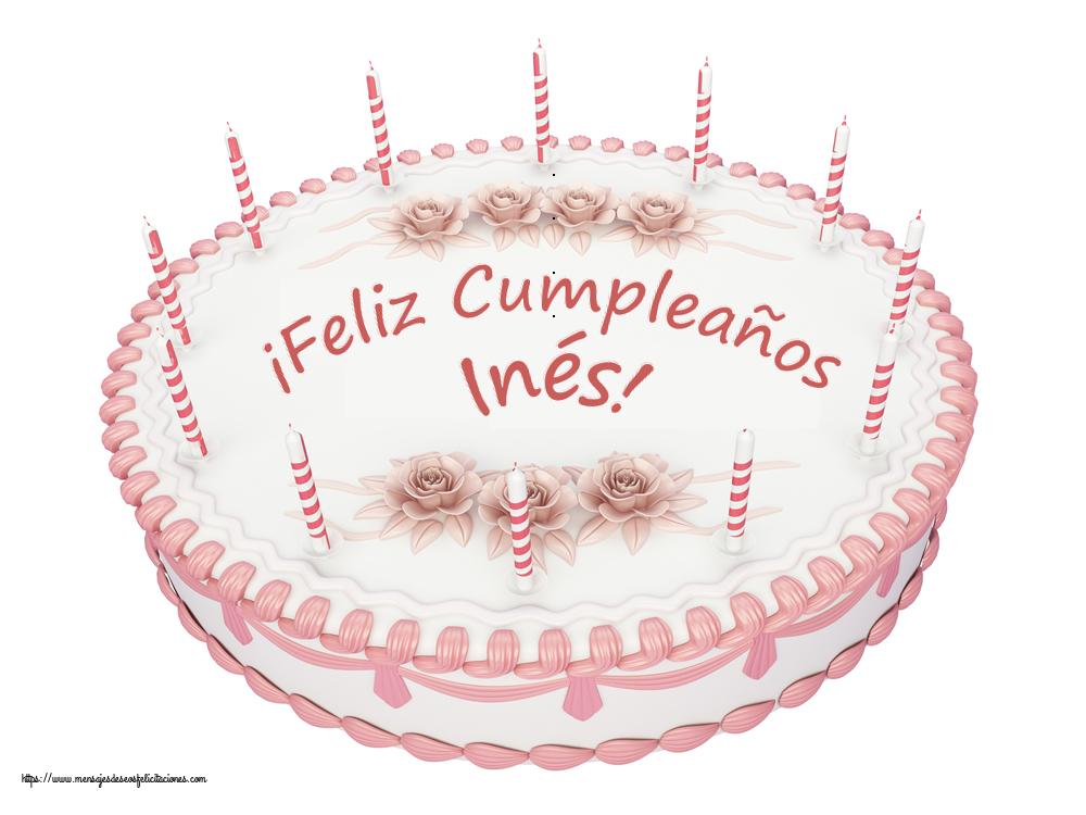 Felicitaciones de cumpleaños - ¡Feliz Cumpleaños Inés! - Tartas