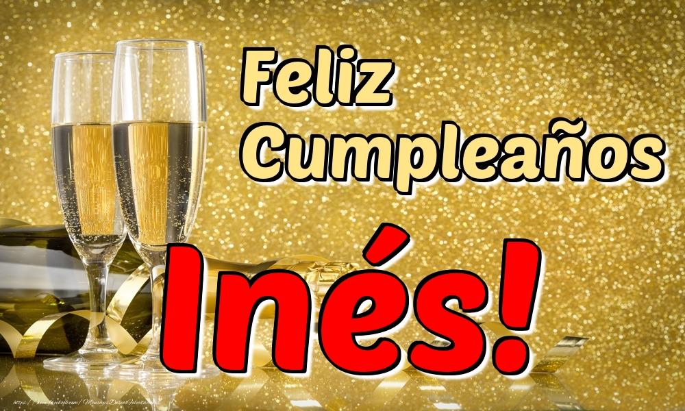 Felicitaciones de cumpleaños - Feliz Cumpleaños Inés!