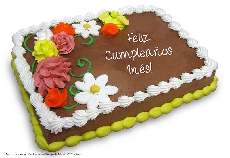 Torta al cioccolato: Buon Compleanno Inés! - Felicitaciones de ...