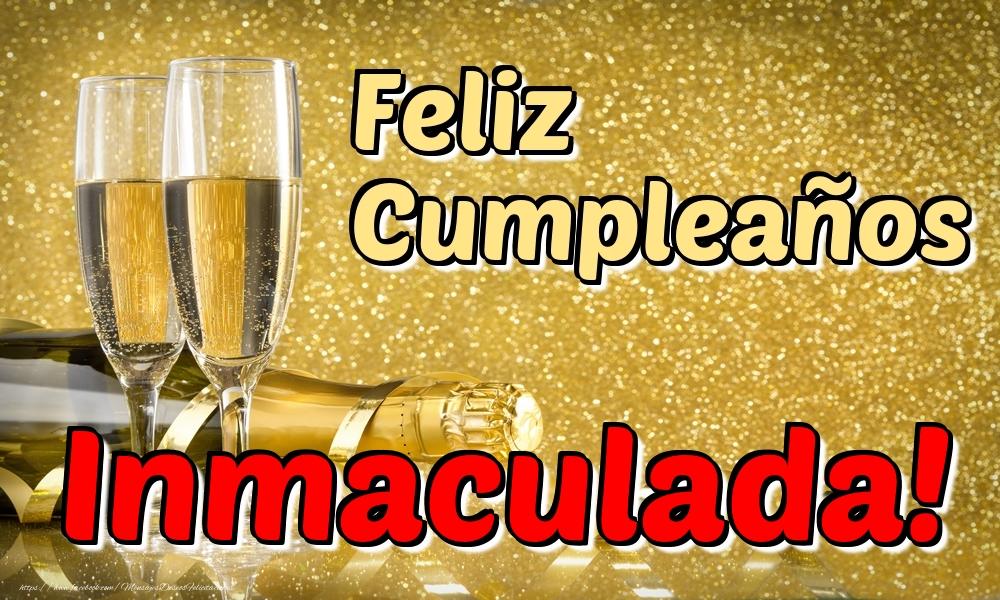 Felicitaciones de cumpleaños - Feliz Cumpleaños Inmaculada!