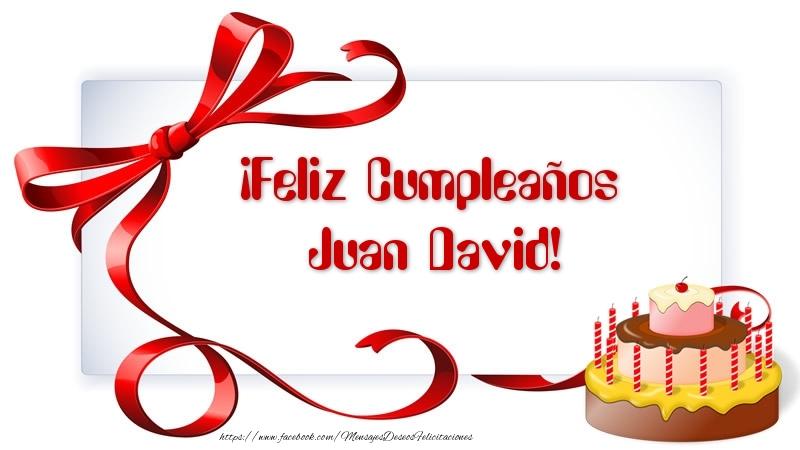 Feliz cumpleanos juan david