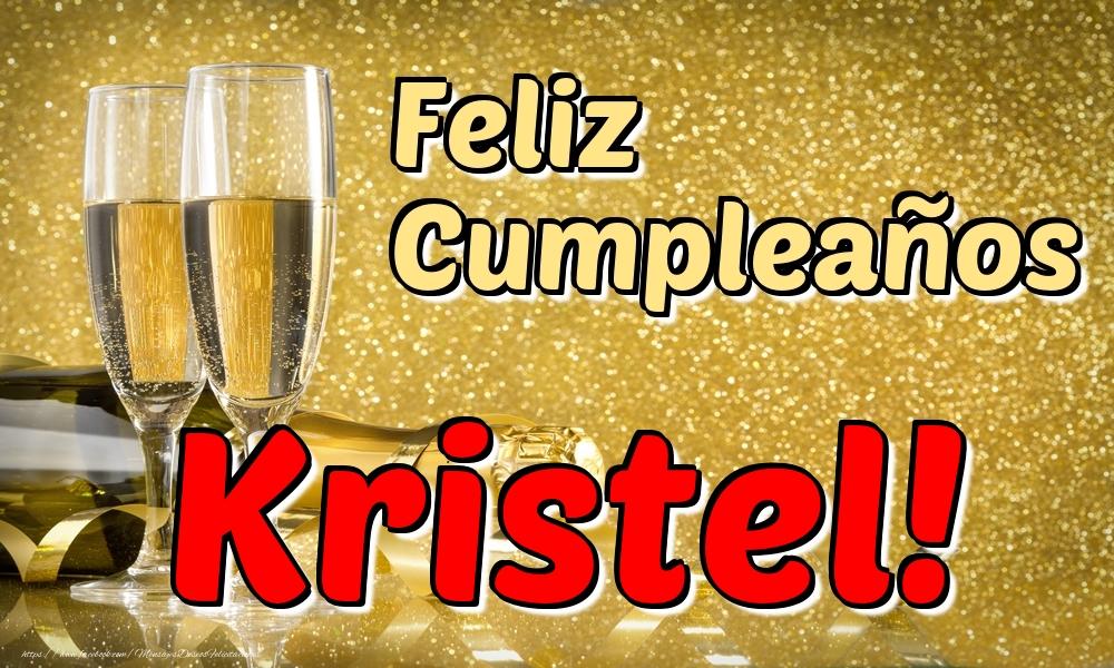Felicitaciones de cumpleaños - Feliz Cumpleaños Kristel!