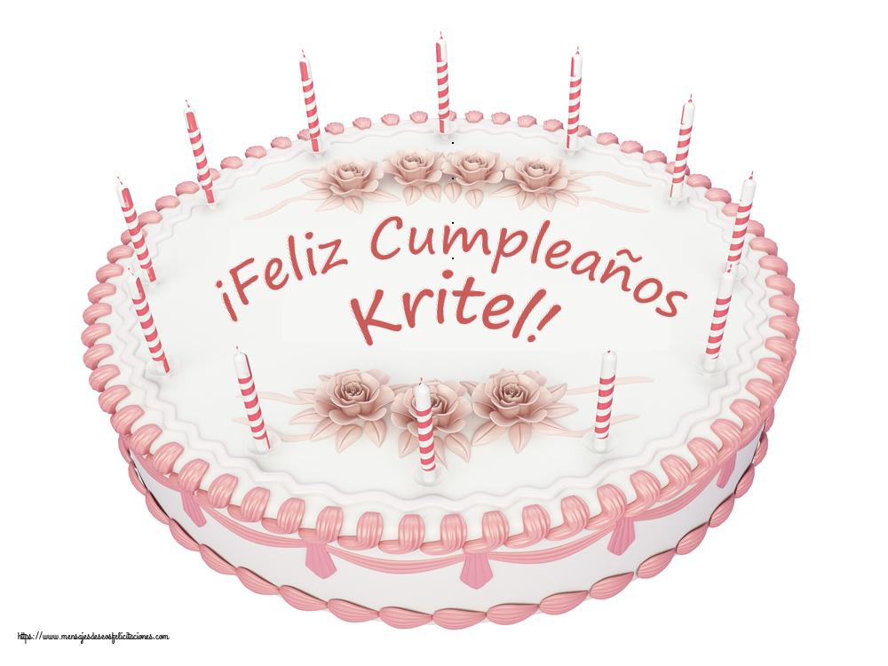 Felicitaciones de cumpleaños - ¡Feliz Cumpleaños Kritel! - Tartas