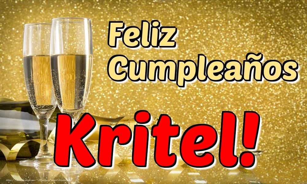 Felicitaciones de cumpleaños - Feliz Cumpleaños Kritel!