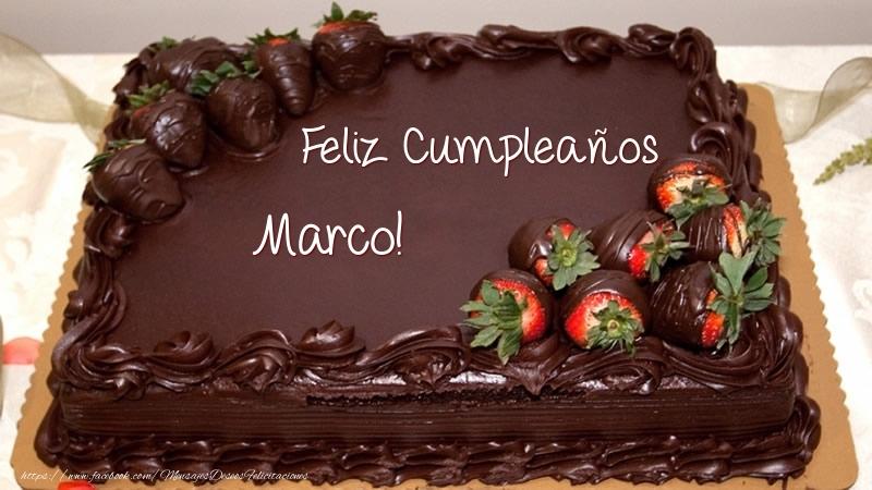 Feliz Cumpleaños Marco! - Tarta - Felicitaciones de cumpleaños para ...