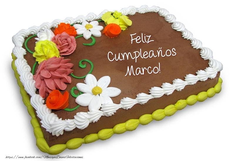 Torta al cioccolato: Buon Compleanno Marco! - Felicitaciones de ...