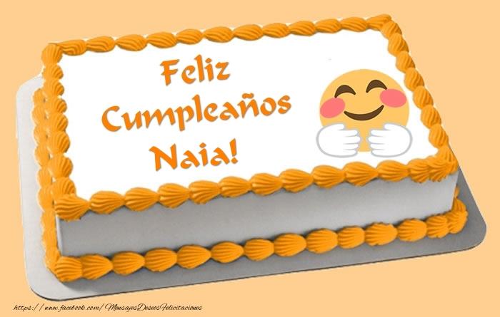 Felicitaciones de cumpleaños - Tarta Feliz Cumpleaños Naia!