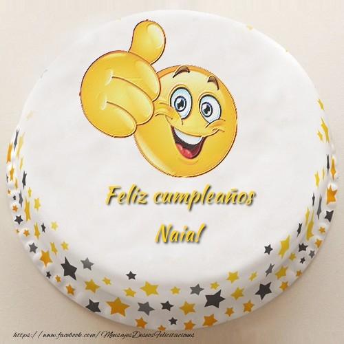 Felicitaciones de cumpleaños - Feliz cumpleaños, Naia!