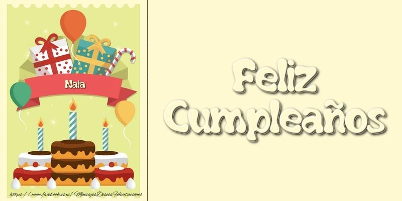 Felicitaciones de cumpleaños - Feliz CumpleañosNaia