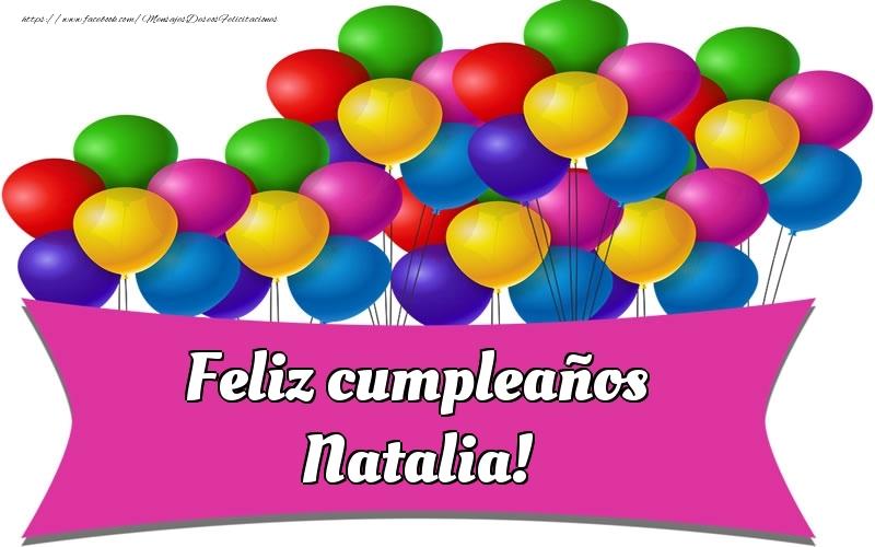 Felicitaciones de cumpleaños - Feliz cumpleaños Natalia!