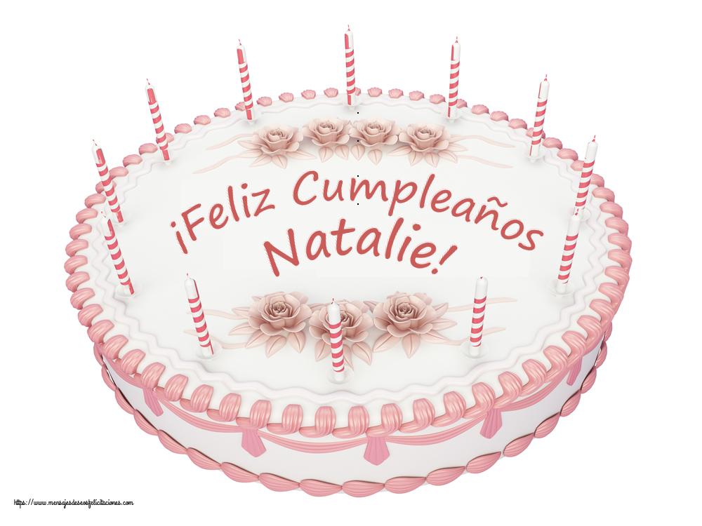 Felicitaciones de cumpleaños - ¡Feliz Cumpleaños Natalie! - Tartas
