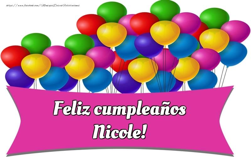 Felicitaciones de cumpleaños - Feliz cumpleaños Nicole!