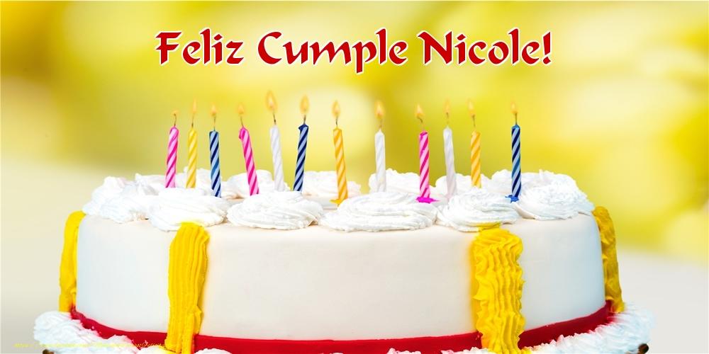 Felicitaciones de cumpleaños - Feliz Cumple Nicole!