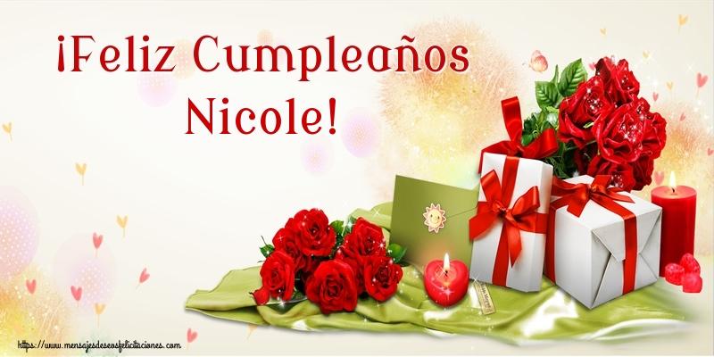 Felicitaciones de cumpleaños - ¡Feliz Cumpleaños Nicole!