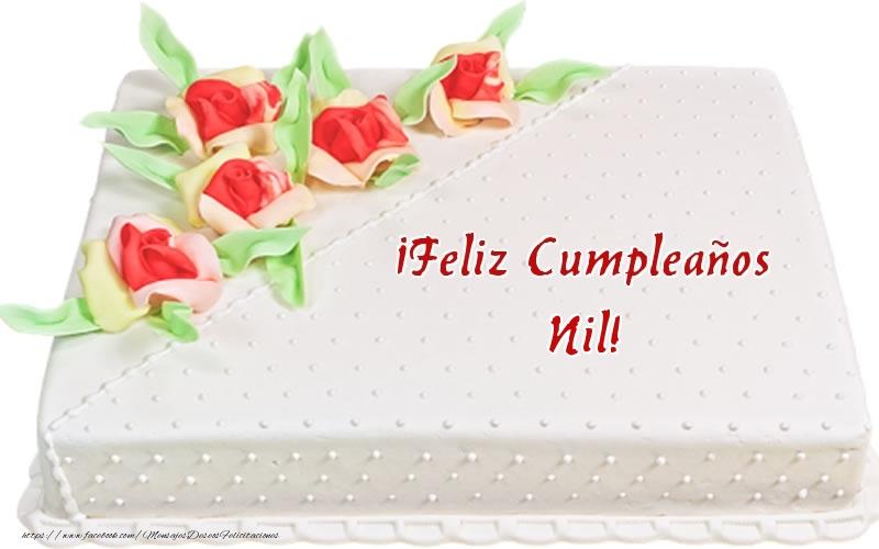 Felicitaciones de cumpleaños - ¡Feliz Cumpleaños Nil! - Tarta