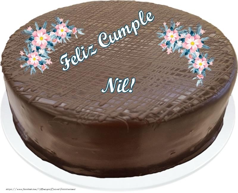 Felicitaciones de cumpleaños - Feliz Cumple Nil! - Tarta con chocolate
