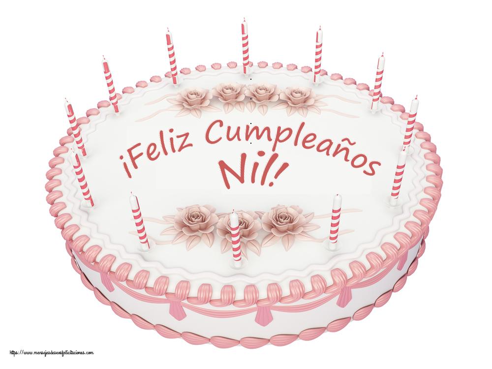 Felicitaciones de cumpleaños - ¡Feliz Cumpleaños Nil! - Tartas